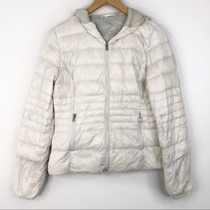Halifax Traders White Down Feather Puffer Coat